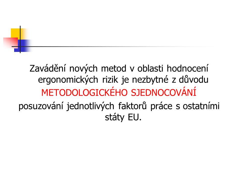 METODOLOGICKÉHO SJEDNOCOVÁNÍ