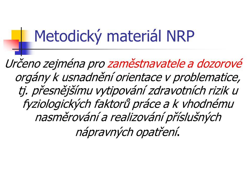 Metodický materiál NRP
