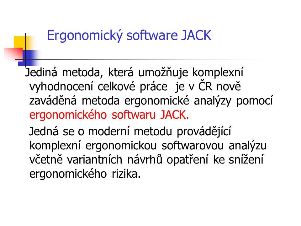 Ergonomický software JACK
