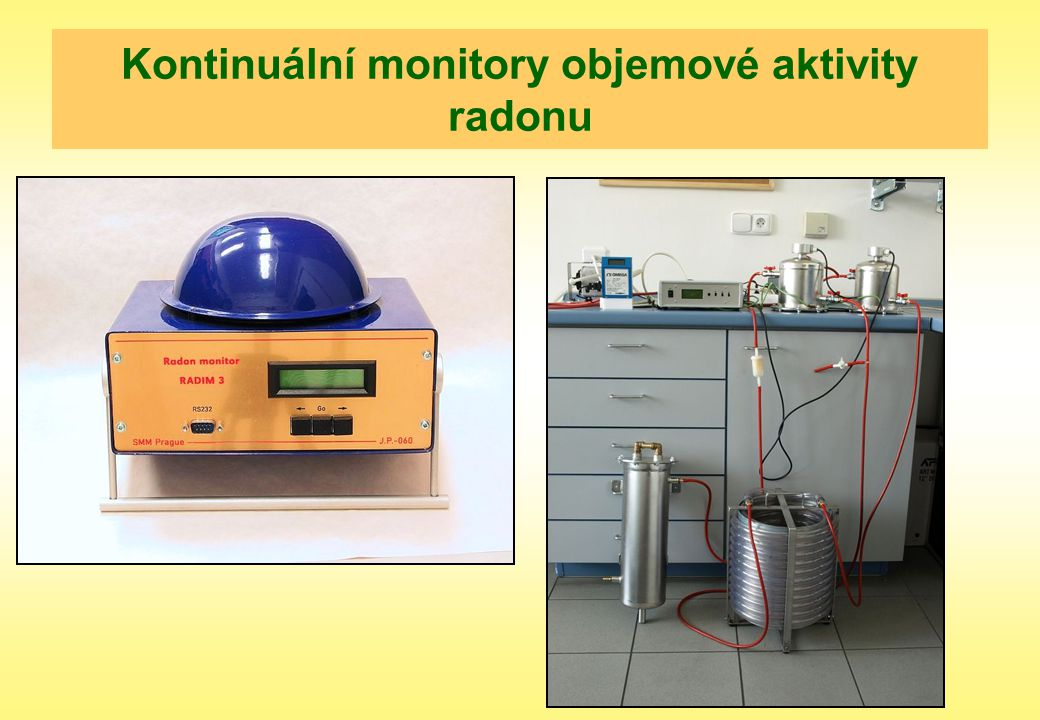 Kontinuální monitory objemové aktivity radonu