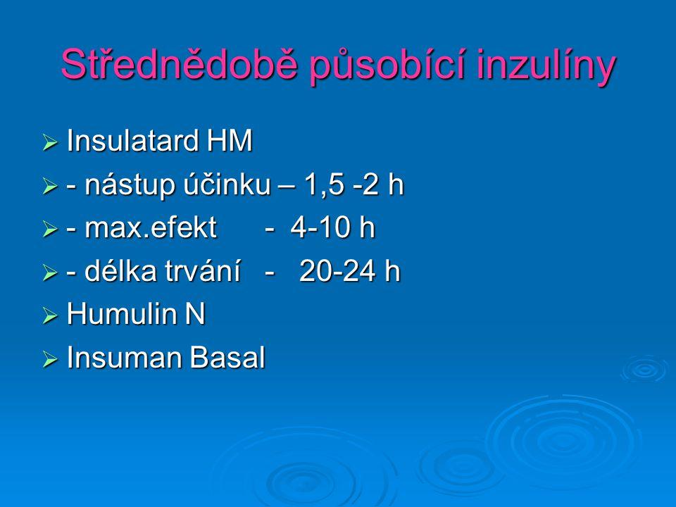 Střednědobě působící inzulíny