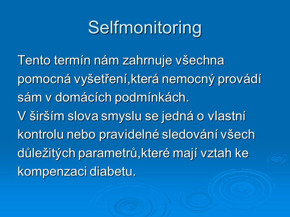 Selfmonitoring Tento termín nám zahrnuje všechna