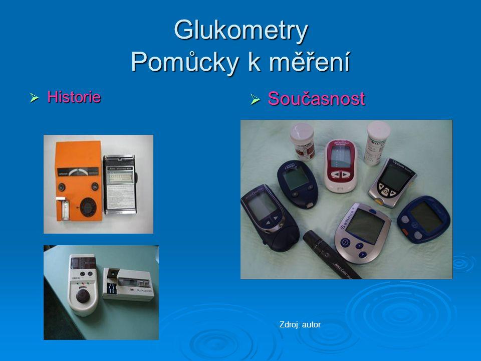 Glukometry Pomůcky k měření