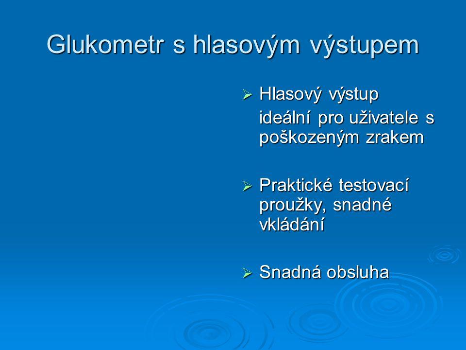 Glukometr s hlasovým výstupem