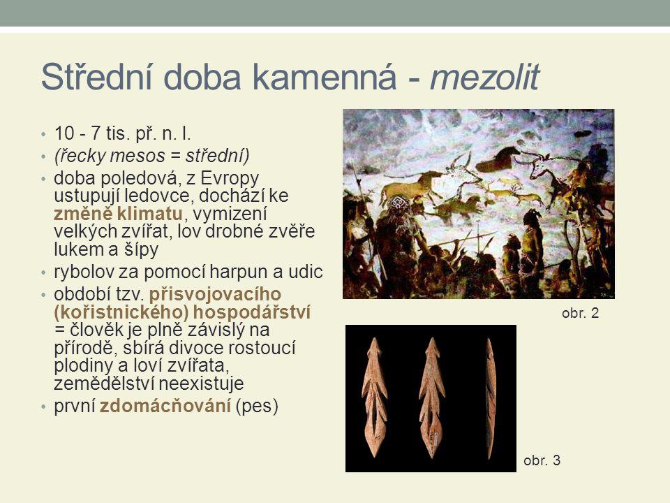 Střední doba kamenná - mezolit