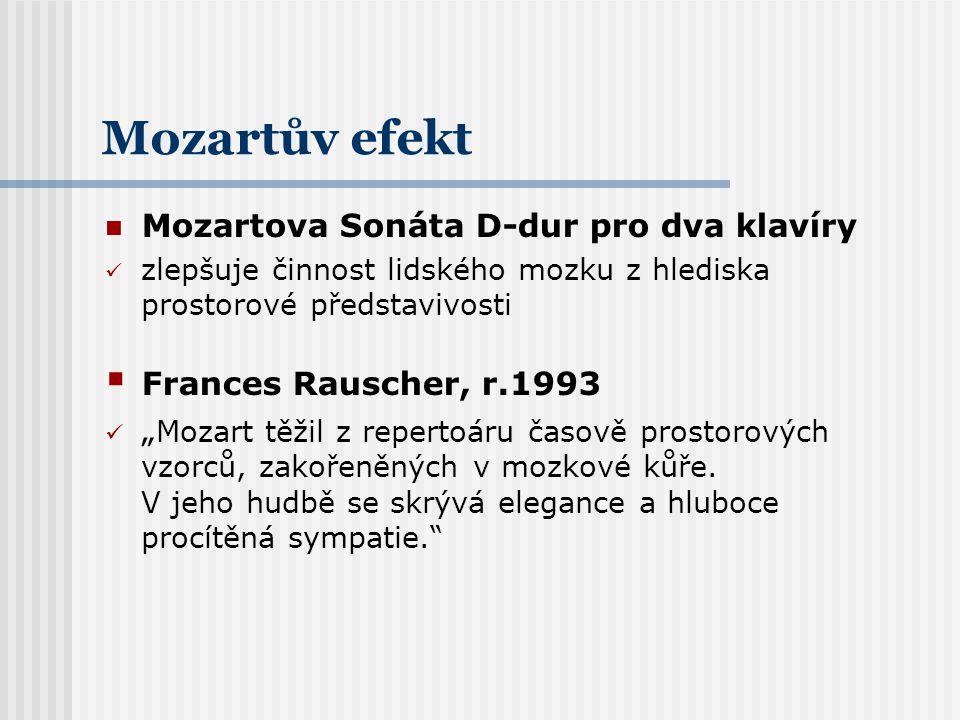 Mozartův efekt Mozartova Sonáta D-dur pro dva klavíry