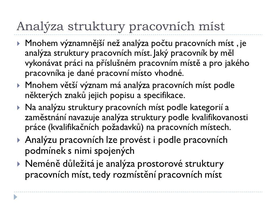 Analýza struktury pracovních míst
