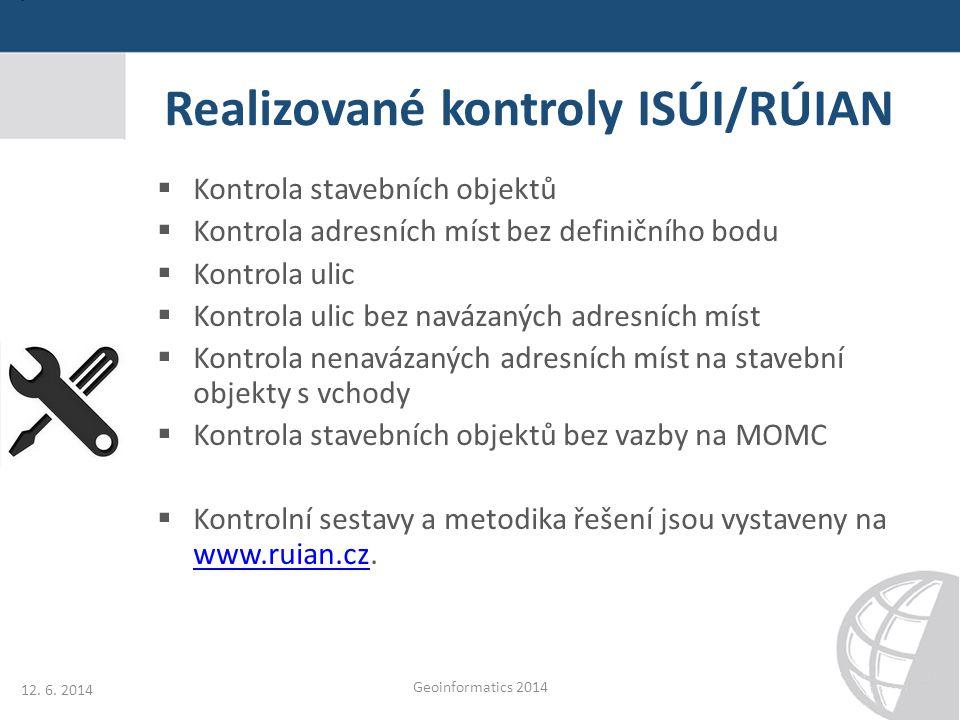 Realizované kontroly ISÚI/RÚIAN