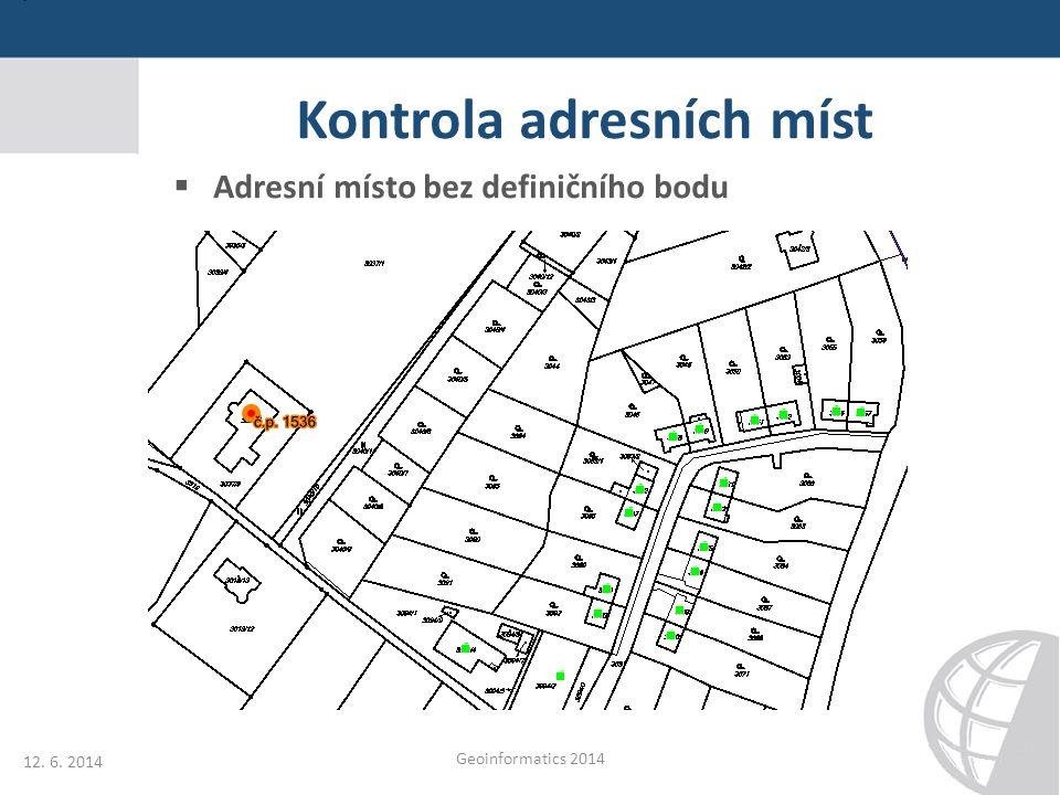 Kontrola adresních míst
