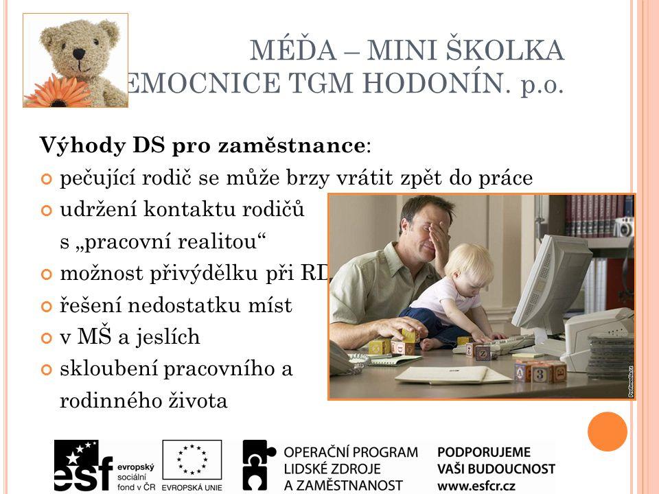 MÉĎA – MINI ŠKOLKA NEMOCNICE TGM HODONÍN. p.o.