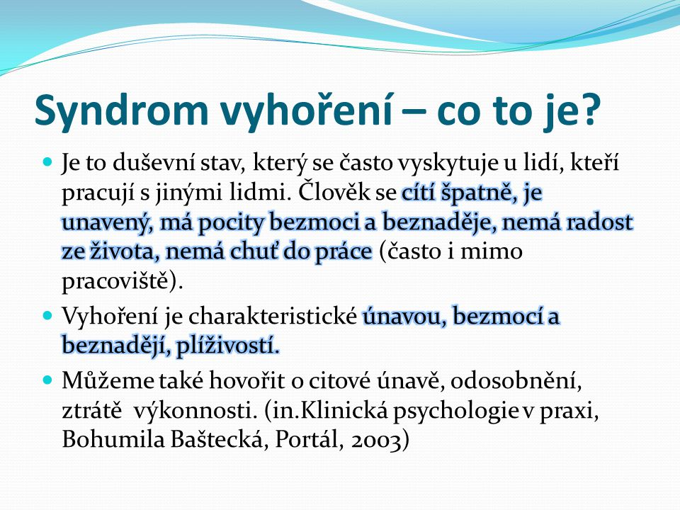 Syndrom vyhoření – co to je
