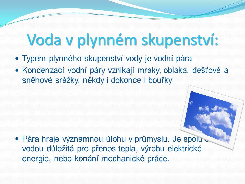 Voda v plynném skupenství: