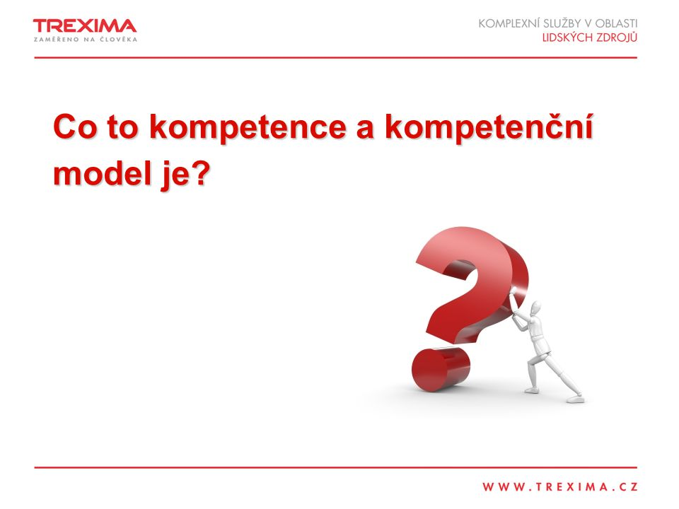 Co to kompetence a kompetenční model je