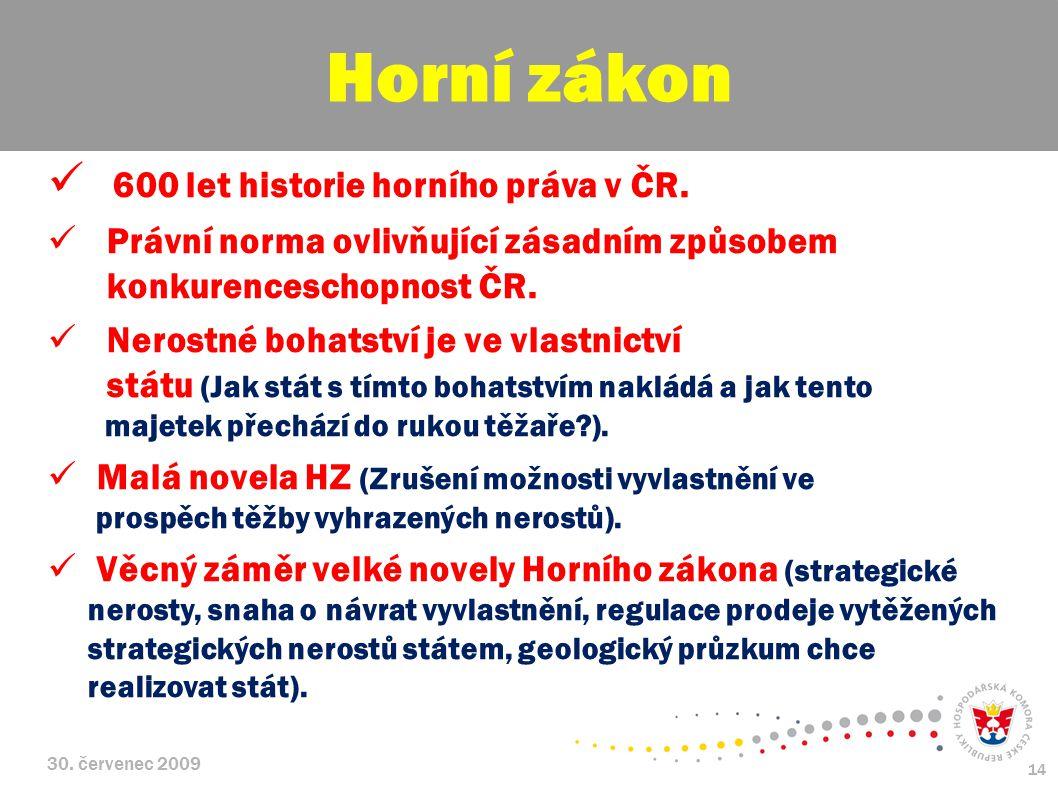 Horní zákon 600 let historie horního práva v ČR.
