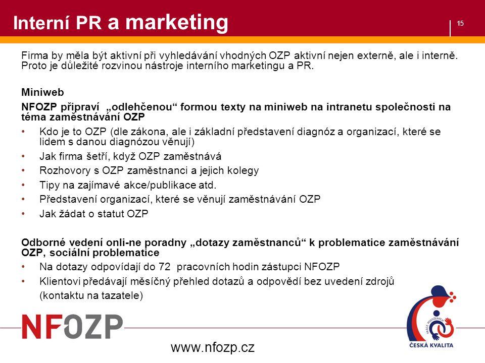 Interní PR a marketing www.nfozp.cz