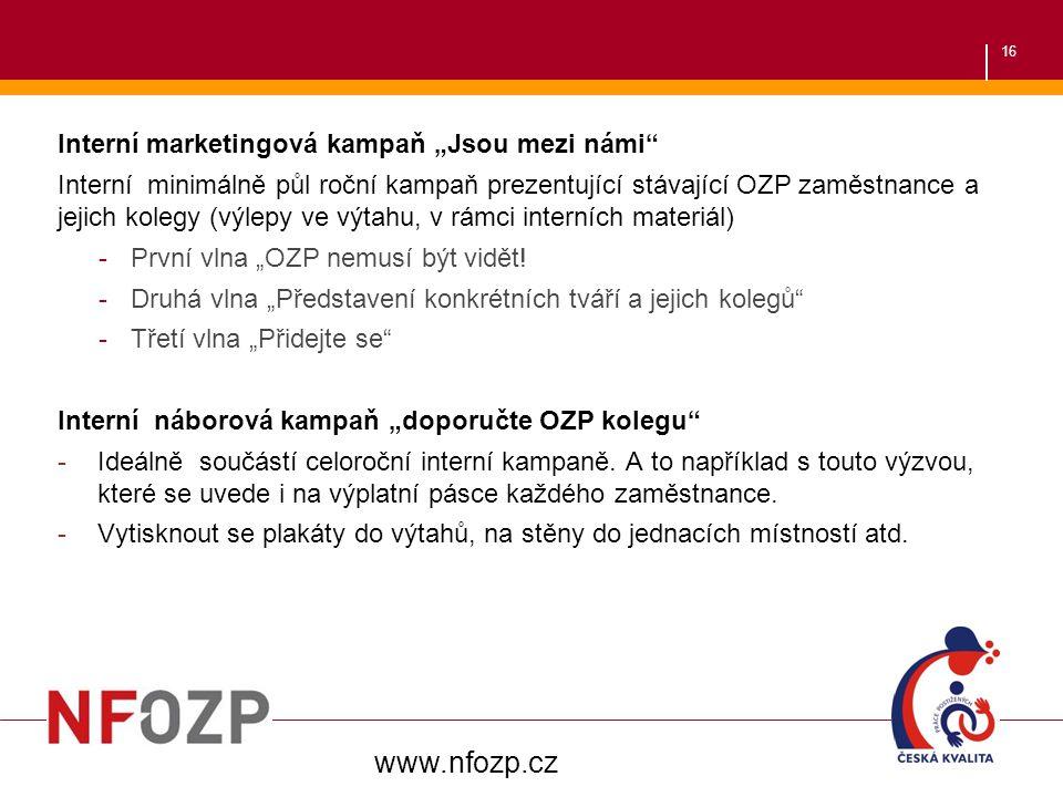 """www.nfozp.cz Interní marketingová kampaň """"Jsou mezi námi"""