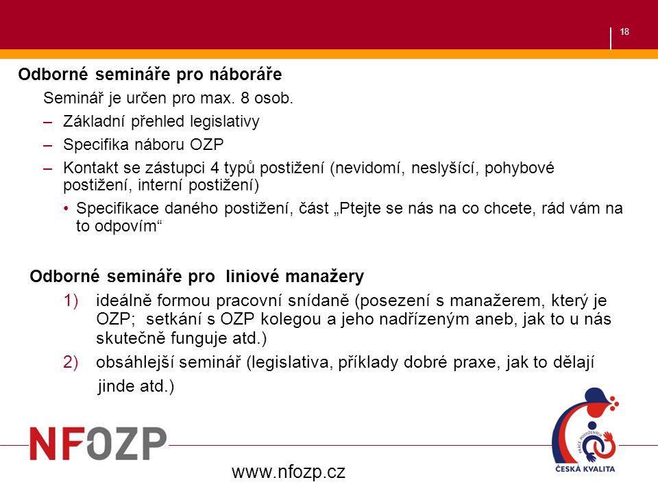 www.nfozp.cz Odborné semináře pro náboráře