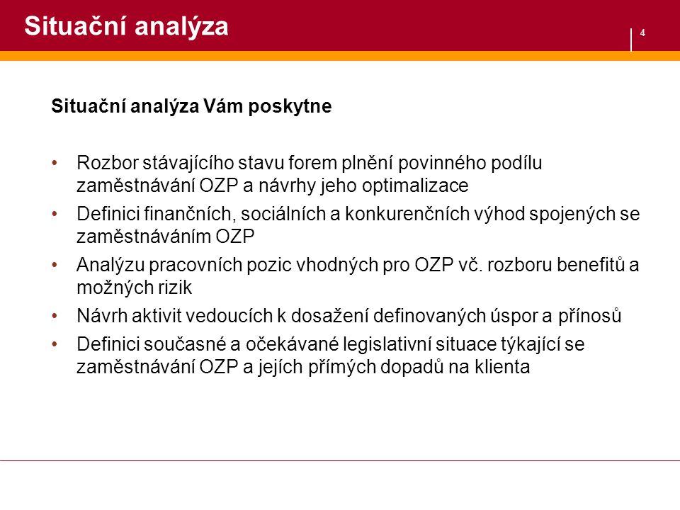 Situační analýza Situační analýza Vám poskytne