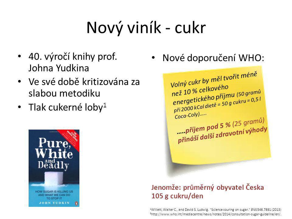Nový viník - cukr 40. výročí knihy prof. Johna Yudkina