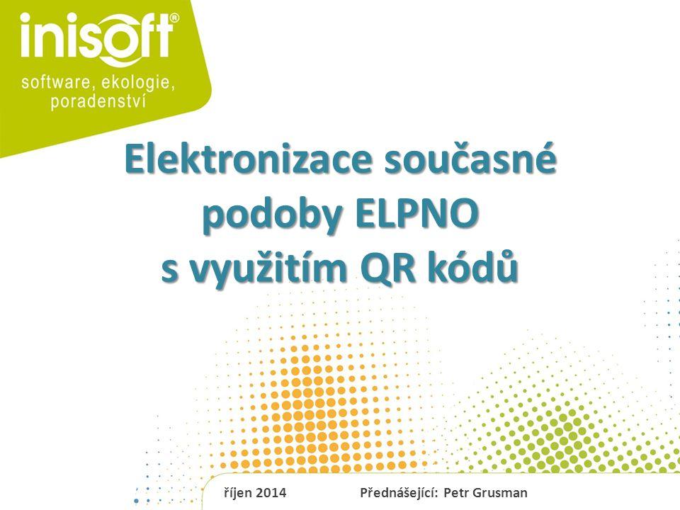 Elektronizace současné podoby ELPNO s využitím QR kódů
