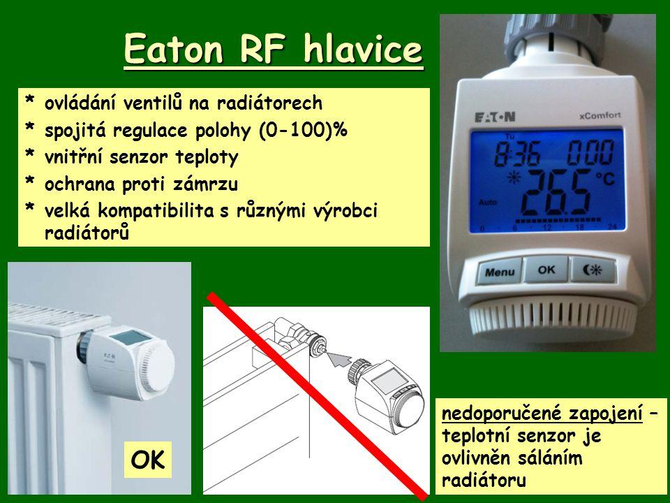 Eaton RF hlavice OK * ovládání ventilů na radiátorech