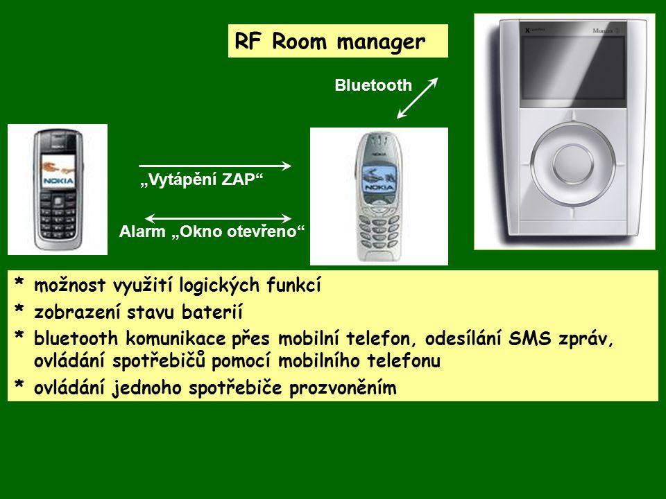 RF Room manager * možnost využití logických funkcí