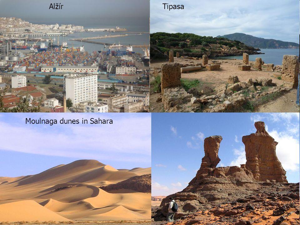 Alžír Tipasa Moulnaga dunes in Sahara