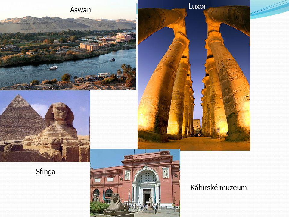 Luxor Aswan Sfinga Káhirské muzeum