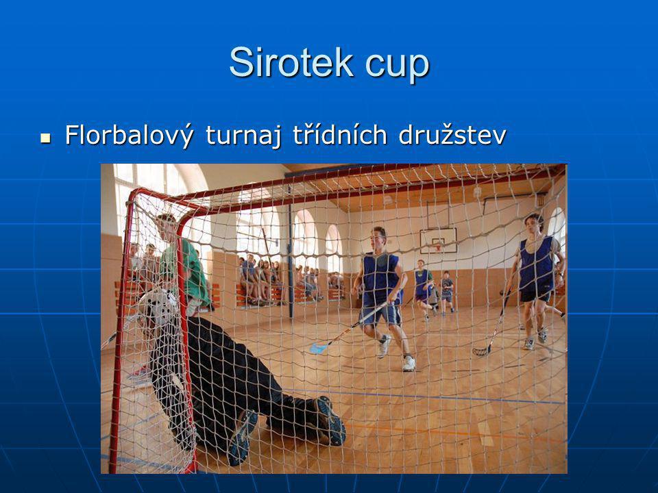 Sirotek cup Florbalový turnaj třídních družstev
