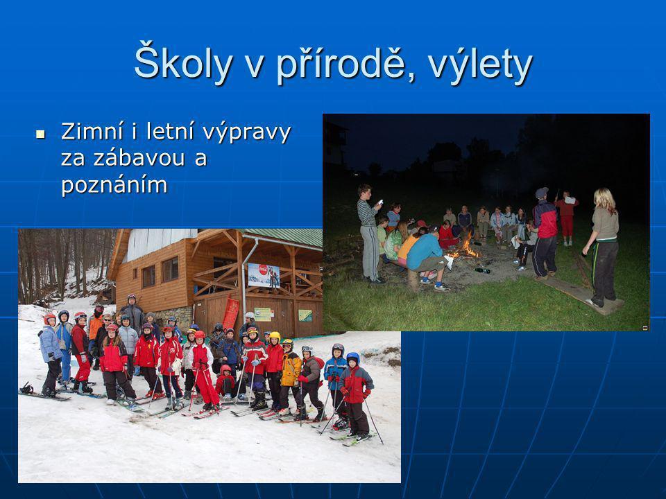 Školy v přírodě, výlety Zimní i letní výpravy za zábavou a poznáním