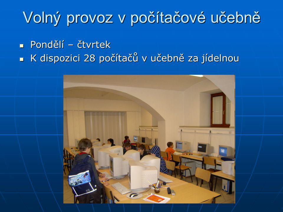 Volný provoz v počítačové učebně