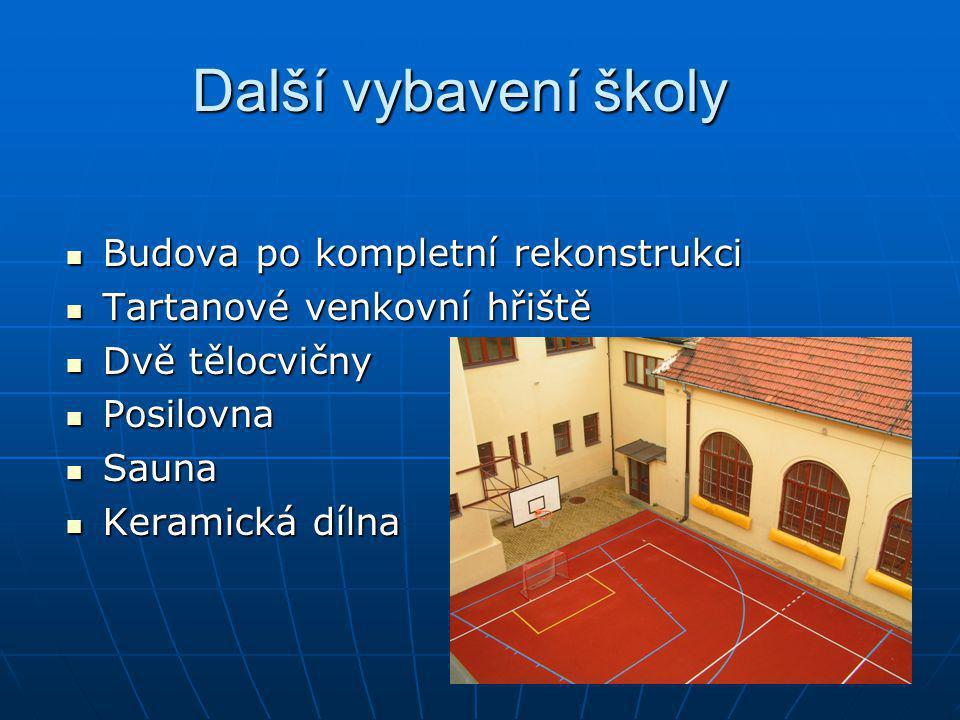 Další vybavení školy Budova po kompletní rekonstrukci