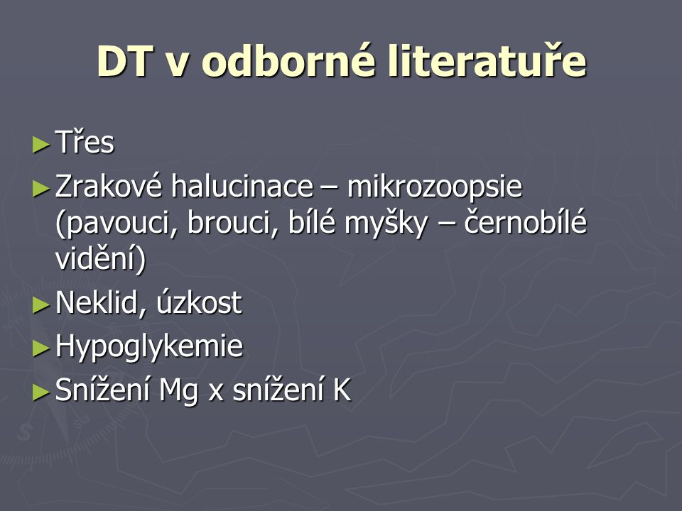 DT v odborné literatuře