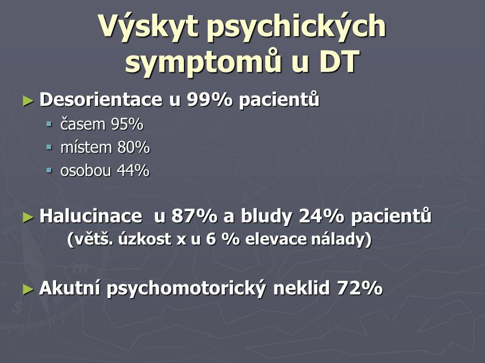 Výskyt psychických symptomů u DT