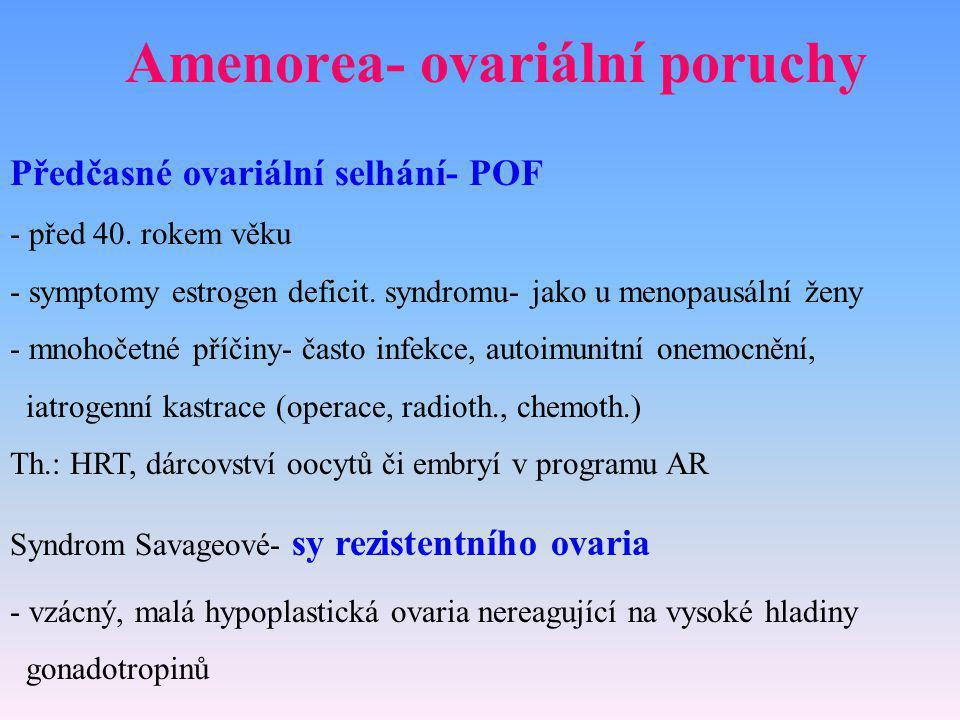 Amenorea- ovariální poruchy