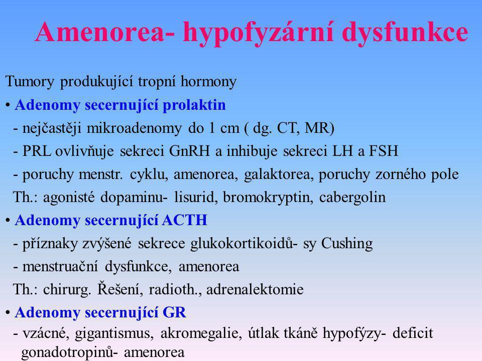 Amenorea- hypofyzární dysfunkce