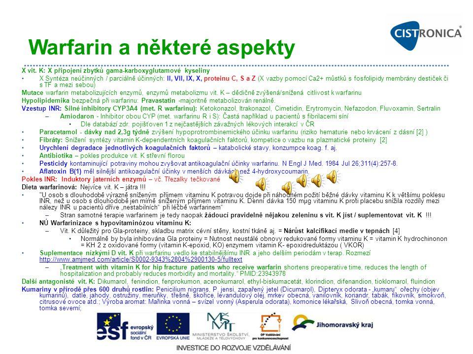Warfarin a některé aspekty