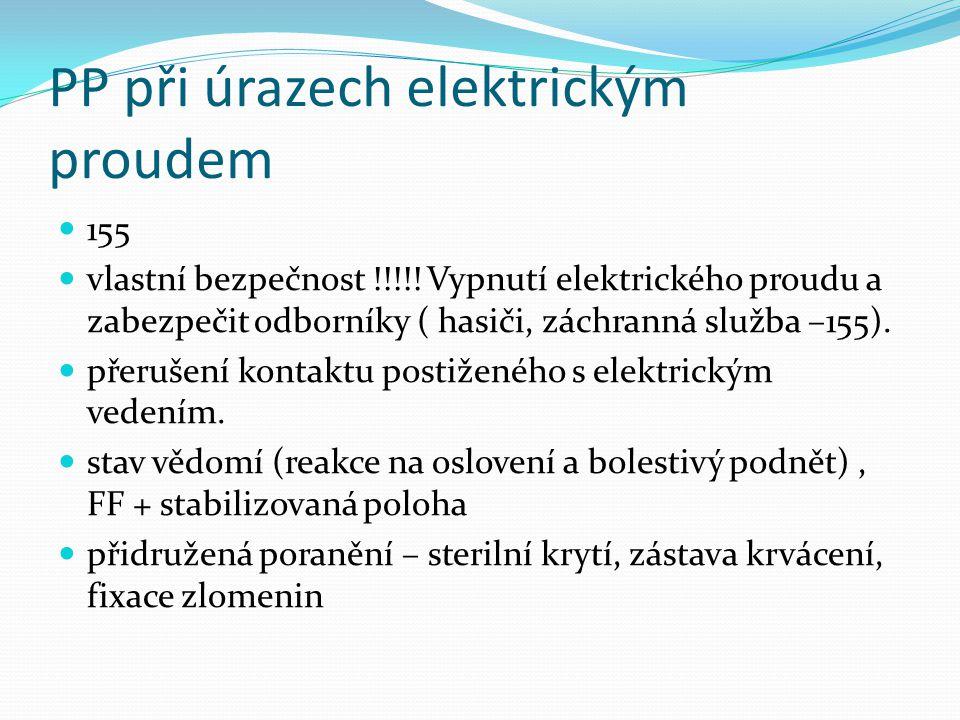 PP při úrazech elektrickým proudem