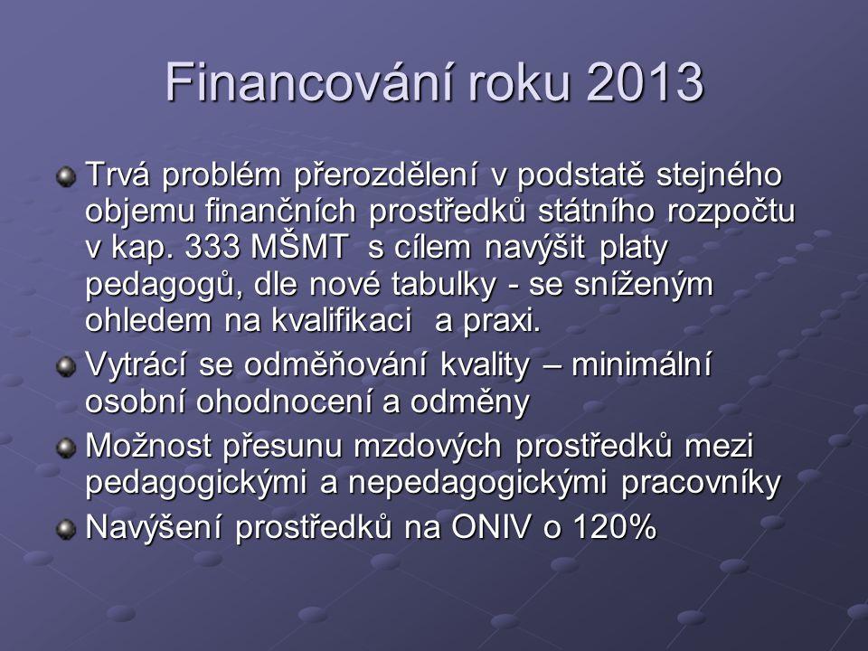 Financování roku 2013