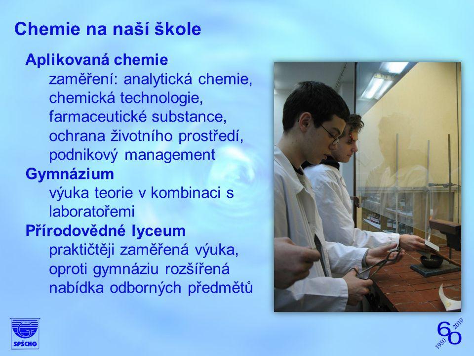 Chemie na naší škole Aplikovaná chemie
