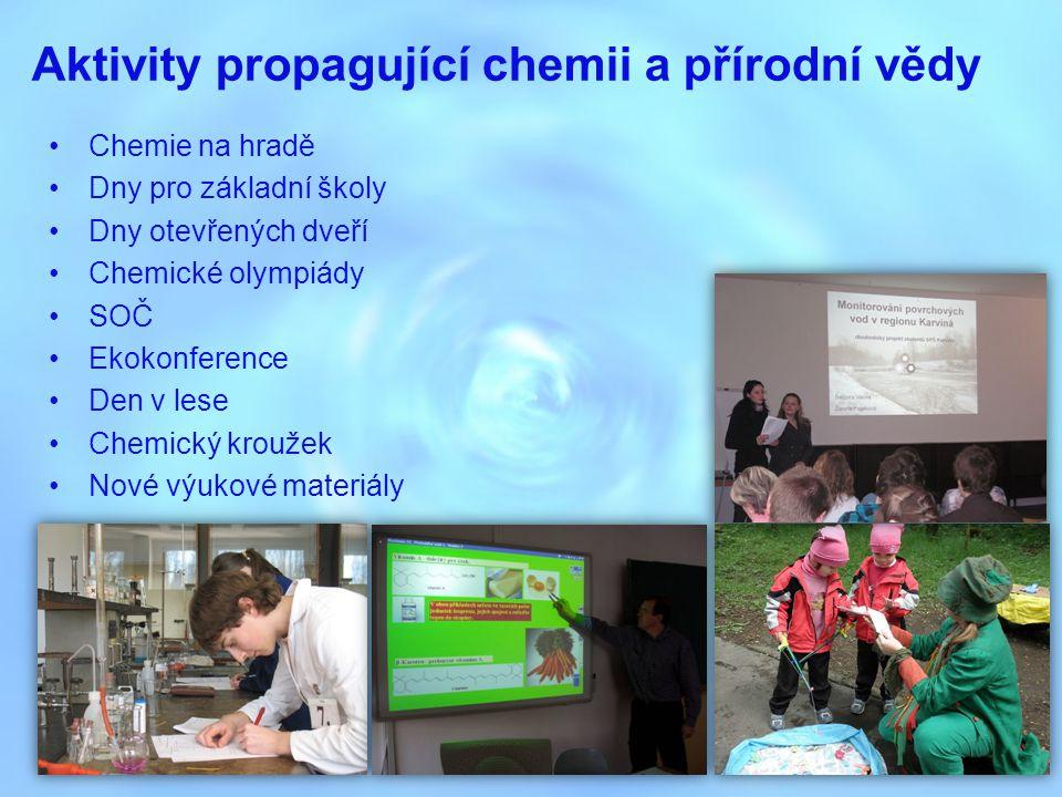 Aktivity propagující chemii a přírodní vědy