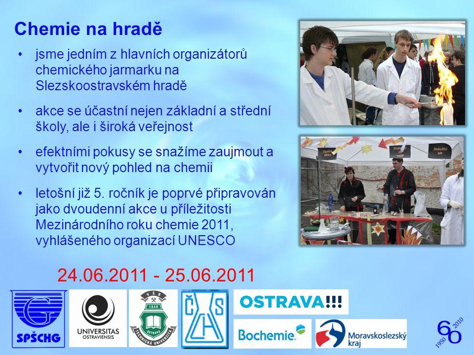 Chemie na hradě jsme jedním z hlavních organizátorů chemického jarmarku na Slezskoostravském hradě.