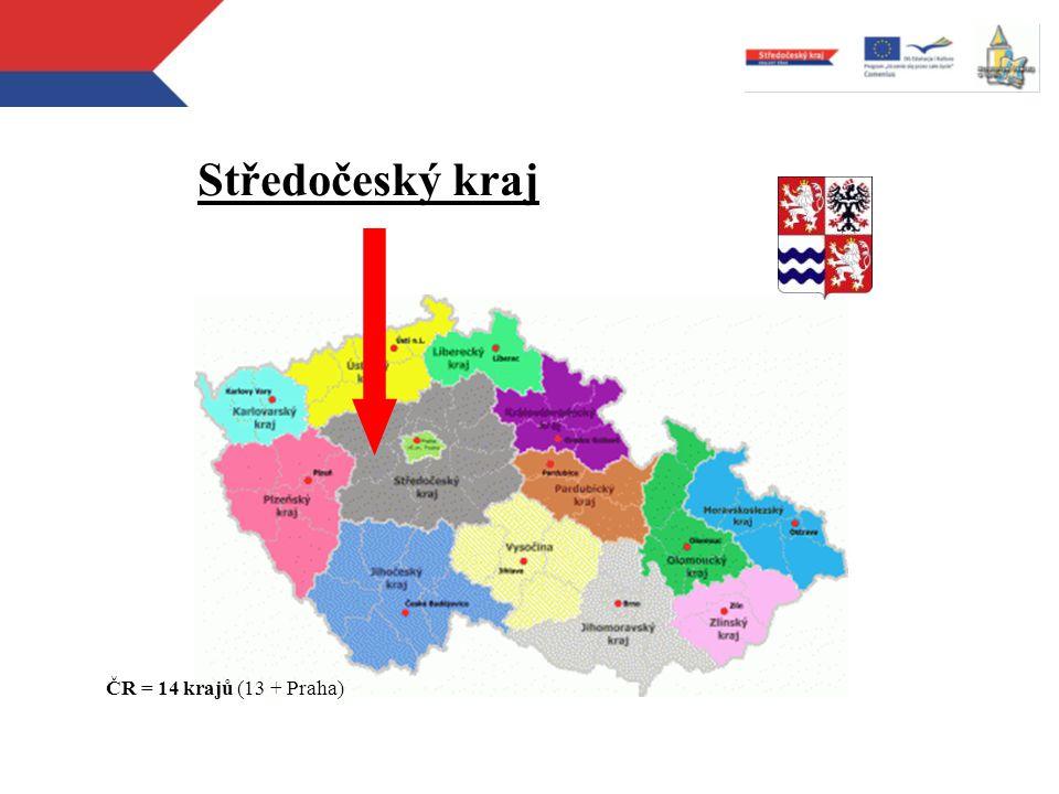 Středočeský kraj ČR = 14 krajů (13 + Praha)