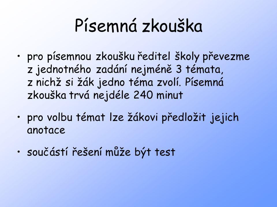 Písemná zkouška