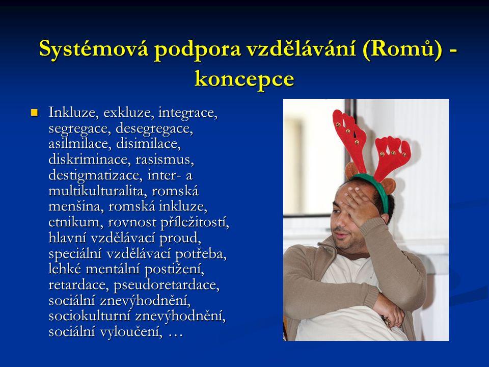 Systémová podpora vzdělávání (Romů) - koncepce