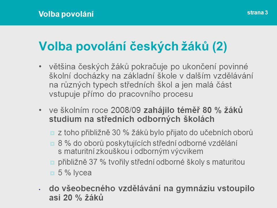 Volba povolání českých žáků (2)