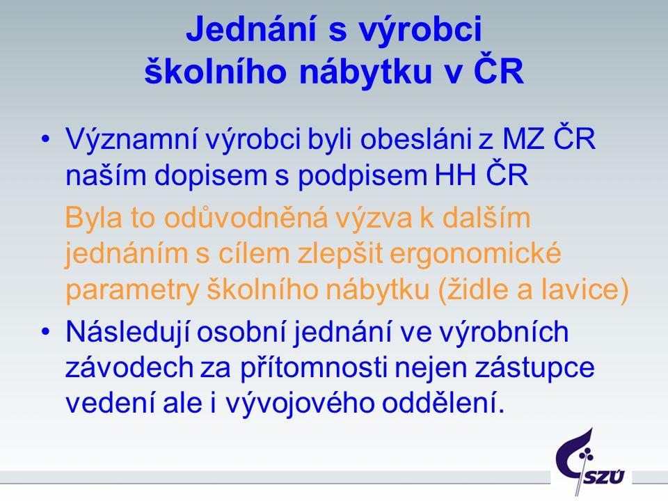 Jednání s výrobci školního nábytku v ČR