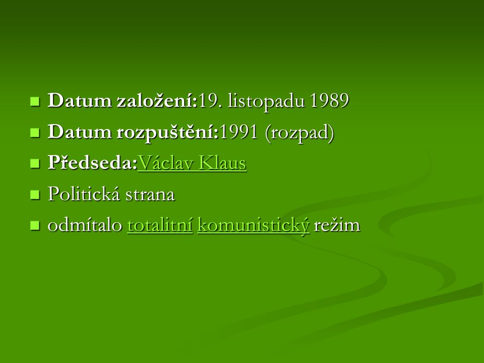 Datum založení:19. listopadu 1989