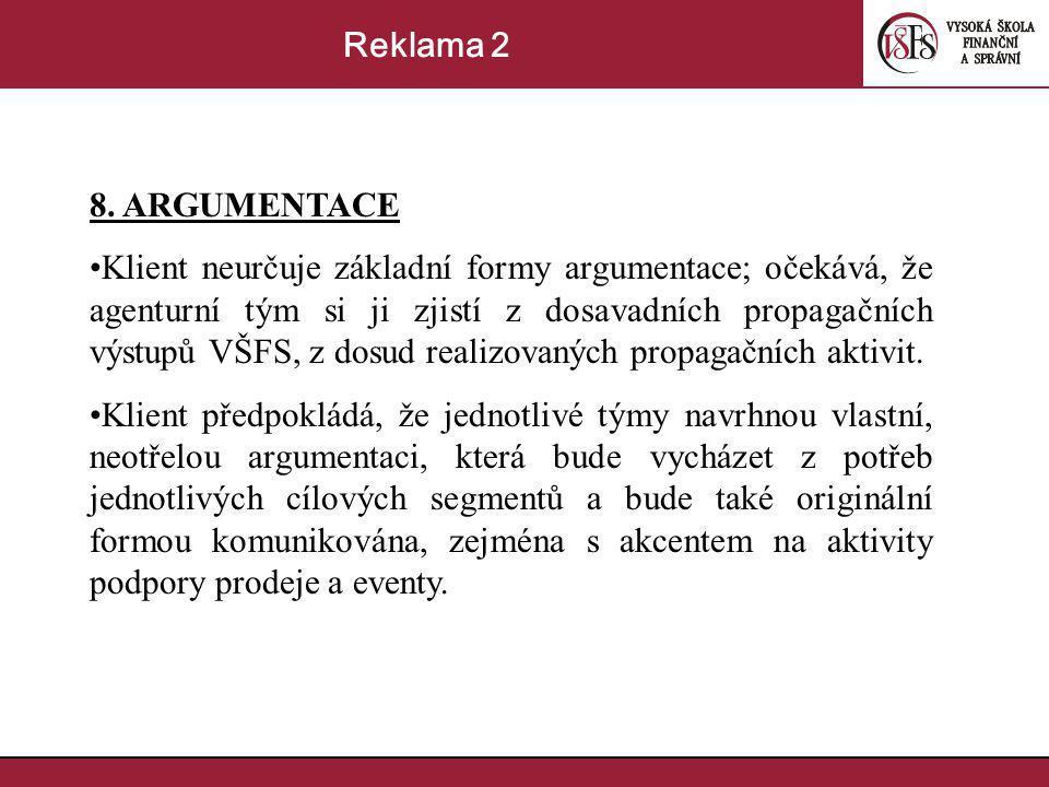 Reklama 2 8. ARGUMENTACE.