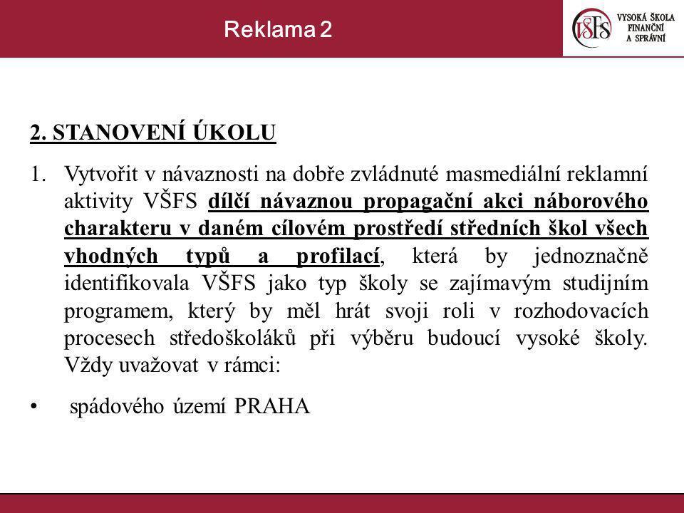 Reklama 2 2. STANOVENÍ ÚKOLU.